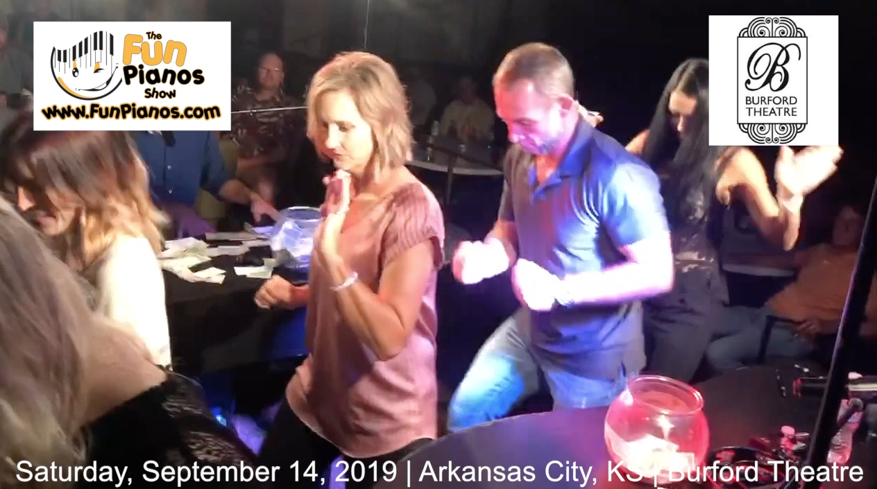 Fun Pianos! Dueling Pianos show in Arkansas City, KS 9/14/2019