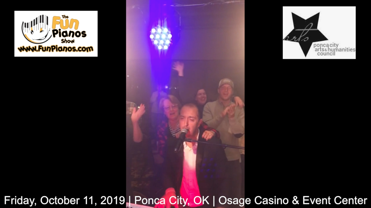 Fun Pianos! Dueling Pianos show in Ponca City, OK 10/12/2019