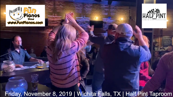 Fun Pianos! Dueling Pianos show in Wichita Falls, TX 11/8/2019