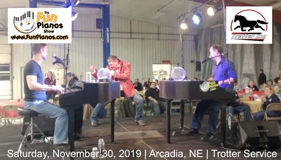 Fun Pianos! Dueling Pianos show in Arcadia, NE 11/30/2019