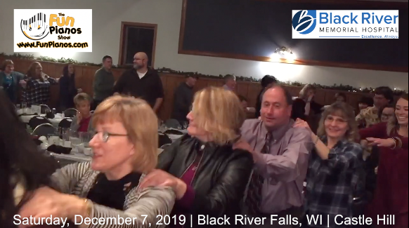Fun Pianos! Dueling Pianos show in Black River Falls, WI 12/7/2019