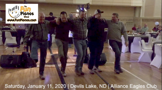 Fun Pianos! Dueling Pianos show in Devils Lake, ND 1/11/20