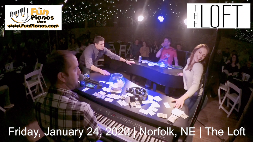 Fun Pianos! Dueling Pianos show in Norfolk, NE 1/24/20
